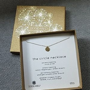 """14k Gold plated DOGEARED """"the circle necklace"""""""